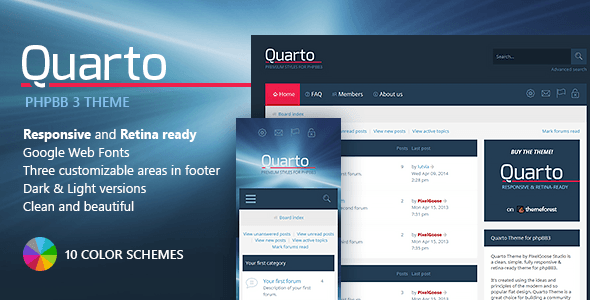 theme forum phpbb3 quarto