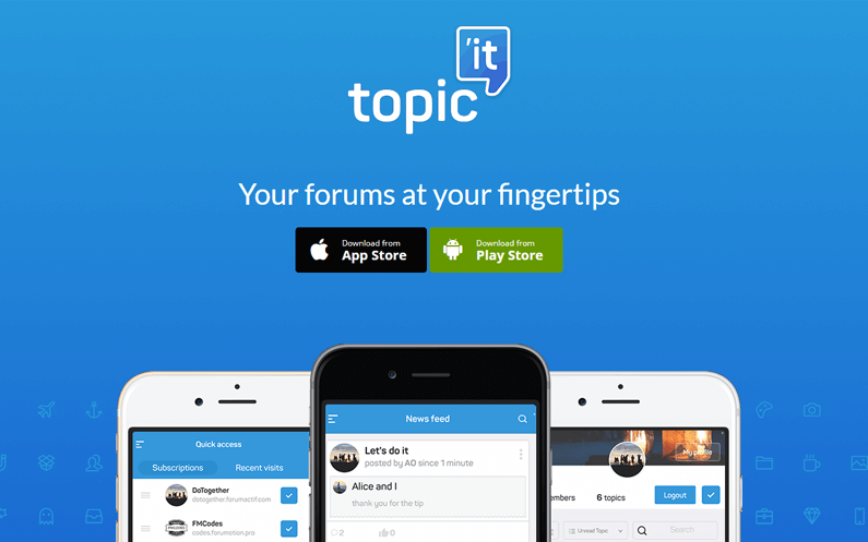 Topic'it : les forums ont enfin leur appli mobile